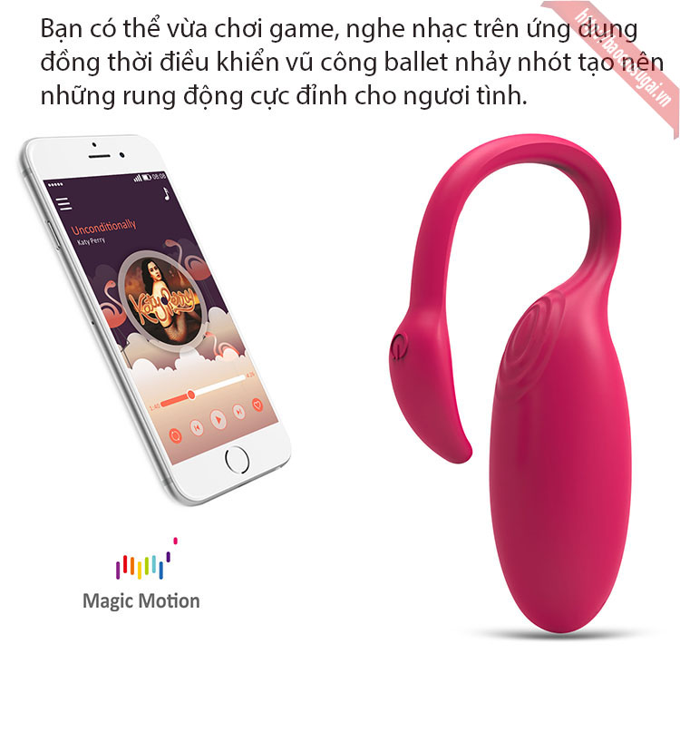 trứng rung không dây kết nối điện thoại