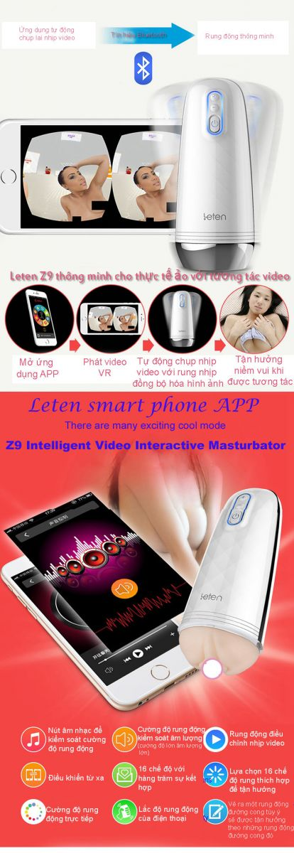 Cốc thủ dâm cao cấp Leten Z9 tương tác videos